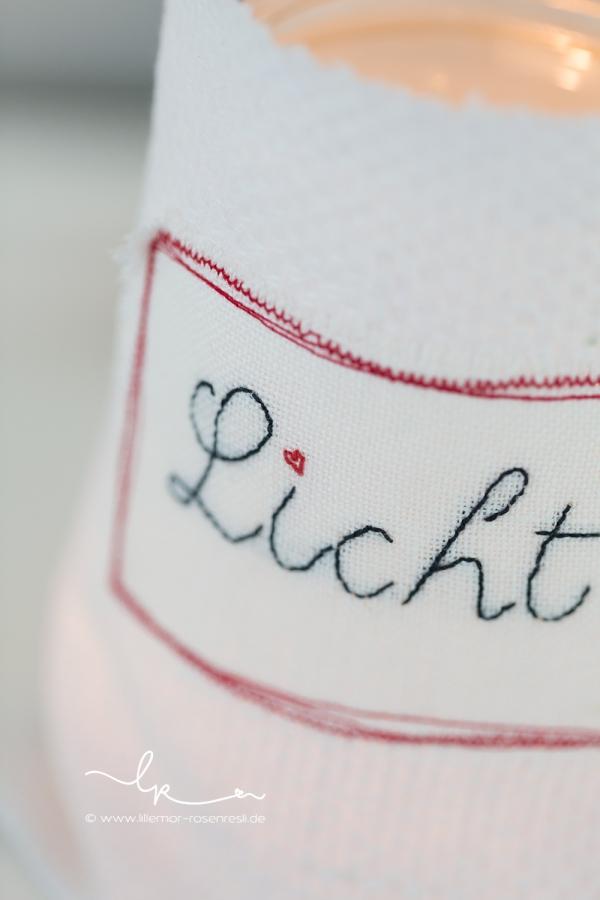 Windlicht, altes Leinen, Linnen, handgestickt, Stickerei, Buch Sommerglück, acufactum, Michele Brunnmeier, Fotografie, Bietigheim-Bissingen, Lillemor & Rosenresli