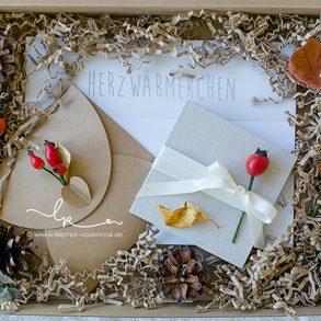 Fotos, Bilder, Kinderfotos, Kinderbilder, Leporello, mit Liebe verpackt, mit Naturmaterialien verpackt, mit Herbstschmuck verpackt, Kraftpapier, Herzwärmerchen, Herbstzeit, Lillemor Fotografie Bietigheim-Bissingen