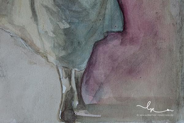 Madeleine, Mademoments, Aquarell, Projekt mit Lillemor & Rosenresli, acufactum, Selbstportrait