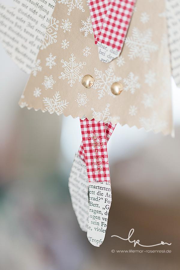 Baumelengel, Weihnachtsbastelei, Rosenresli, Lillemor Fotografie, Bietigheim-Bissingen