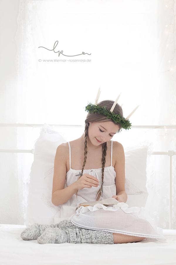 Lucia, Lichterkönigin, Tradition, Schweden, Lichterkranz, Lichterkrone, Luciakrone, Lillemor Fotografie, Bietigheim-Bissingen