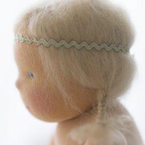 Waldorfpuppe, Puppenseelchen, Portrait, Rosenresli, Puppenwiege, Lillemor, Babyfotograf Bietigheim-Bissingen