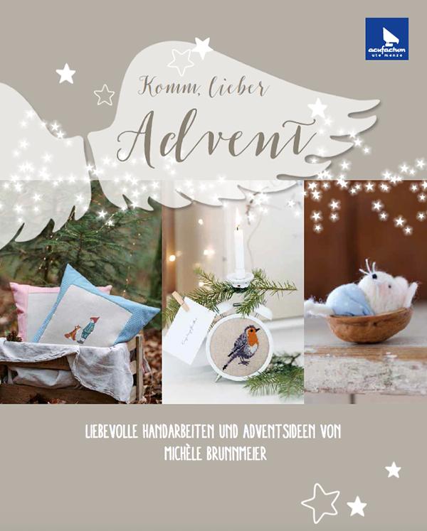 Buchcover, komm, lieber Advent, Weihnachten 2016, acufactum, Lillemor & Rosenresli