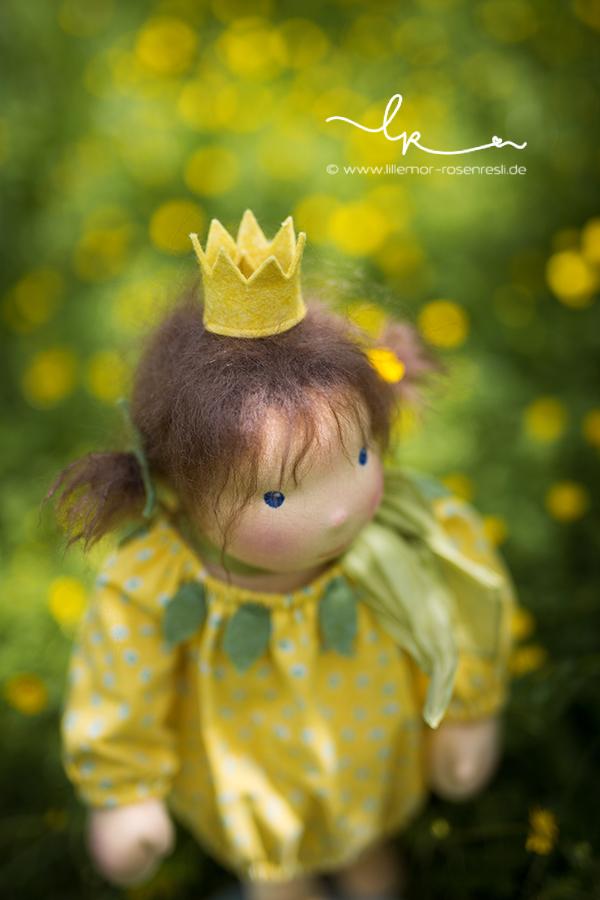Waldorfpuppe, Prinzesschen Penelope, nach einer Geschichte von Daniela Drescher, Lillemor & Rosenresli 2016