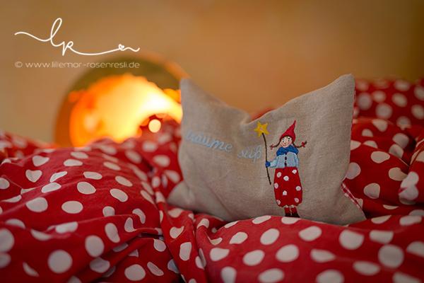 Daniela Drescher, Pippa, Pippa & Pelle, acufactum, Stickdatei, Stickdateien, Maschinensticken, Weihnachten, gute Nacht, Rosenresli, Lillemor