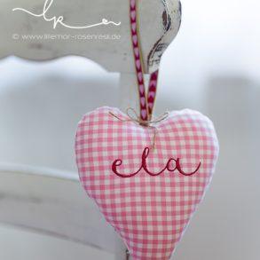 Herzchen mit Name Ela