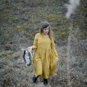 Schlüssellochguckerbild, Winterwald, acufactum, Daniela Drescher